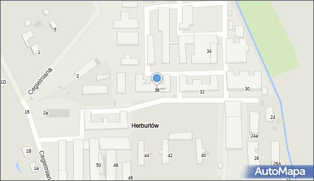 Przemyśl, Herburtów, 36, mapa Przemyśla