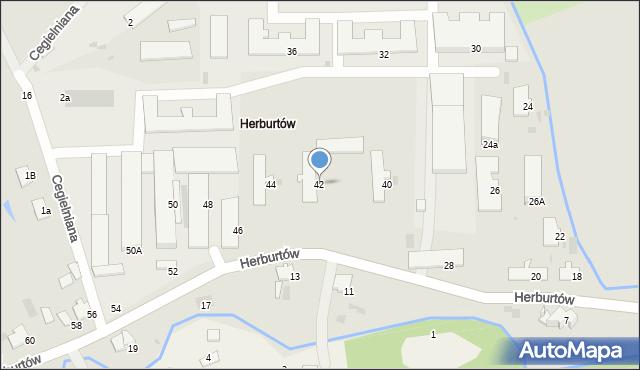 Przemyśl, Herburtów, 42, mapa Przemyśla