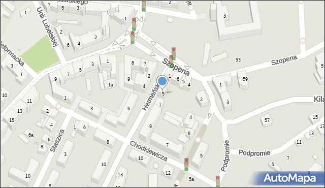 Rzeszów, Hetmańska, 5, mapa Rzeszów