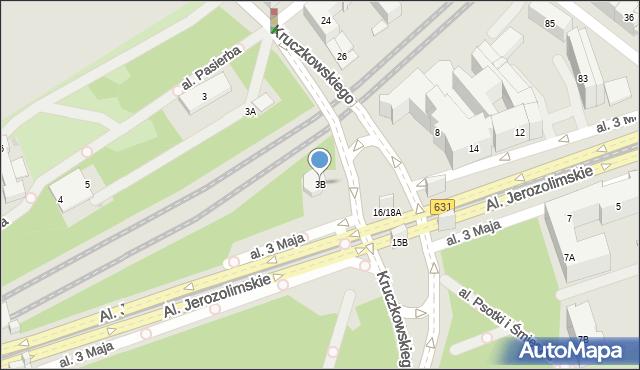 Warszawa, Herberta Zbigniewa, 3B, mapa Warszawy