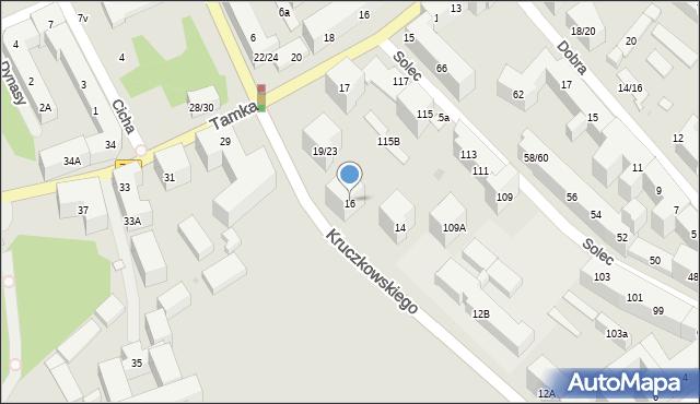 Warszawa, Herberta Zbigniewa, 16, mapa Warszawy