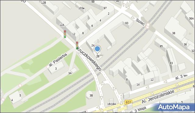 Warszawa, Herberta Zbigniewa, 26, mapa Warszawy