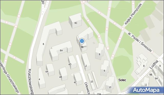 Warszawa, Herberta Zbigniewa, 6B, mapa Warszawy
