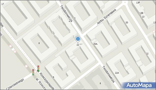 Warszawa, Herbu Szreniawa, 11, mapa Warszawy