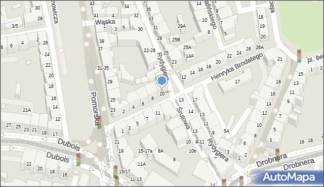 Wrocław, Henryka Brodatego, 10, mapa Wrocławia