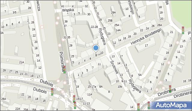 Wrocław, Henryka Brodatego, 8, mapa Wrocławia