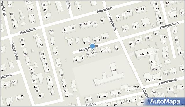 Toruń, Hiacyntowa, 10, mapa Torunia