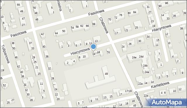 Toruń, Hiacyntowa, 14, mapa Torunia