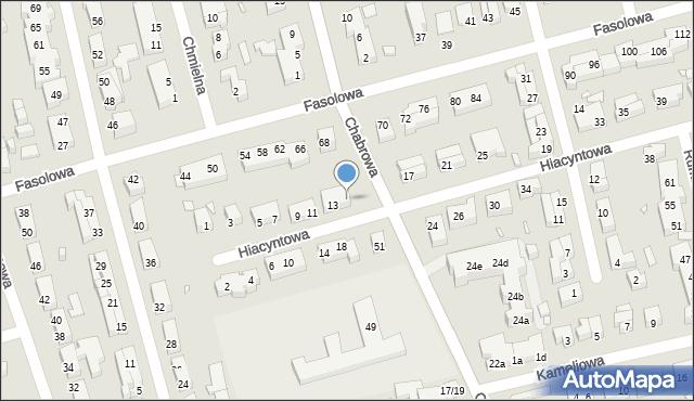 Toruń, Hiacyntowa, 15, mapa Torunia