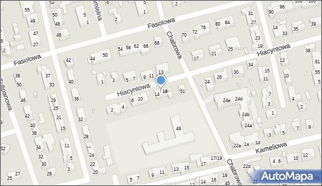 Toruń, Hiacyntowa, 16, mapa Torunia