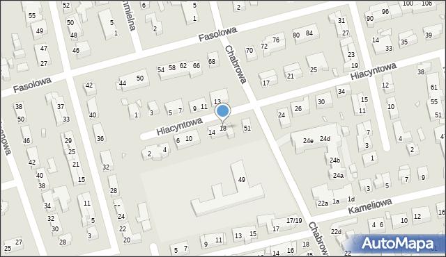 Toruń, Hiacyntowa, 18, mapa Torunia