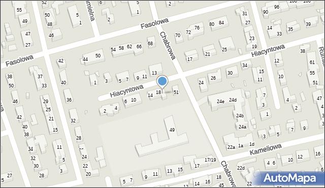 Toruń, Hiacyntowa, 20, mapa Torunia
