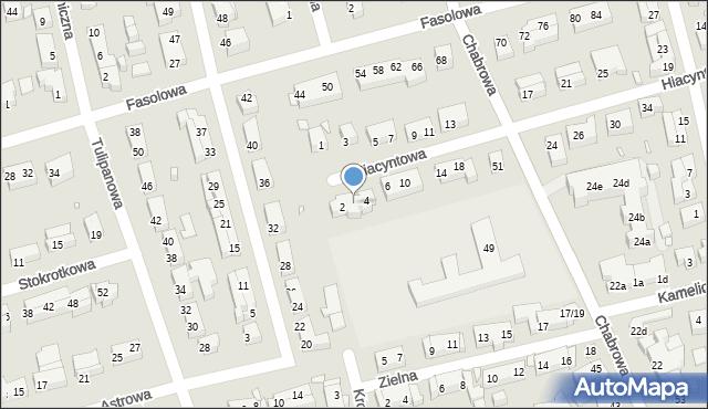 Toruń, Hiacyntowa, 2a, mapa Torunia