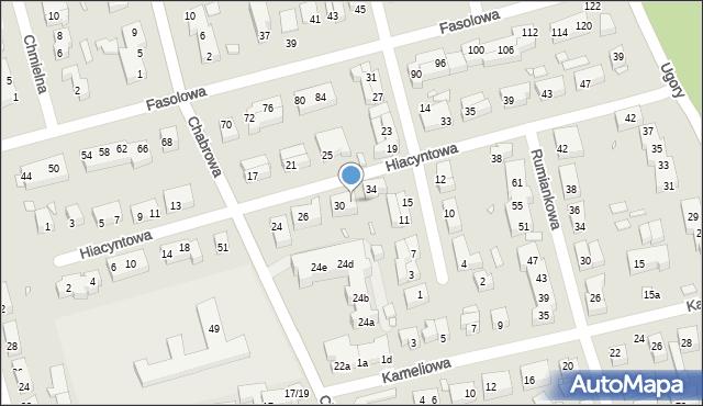 Toruń, Hiacyntowa, 32, mapa Torunia