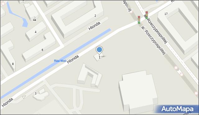 Warszawa, Hlonda Augusta, ks. kard. Prymasa, 1, mapa Warszawy
