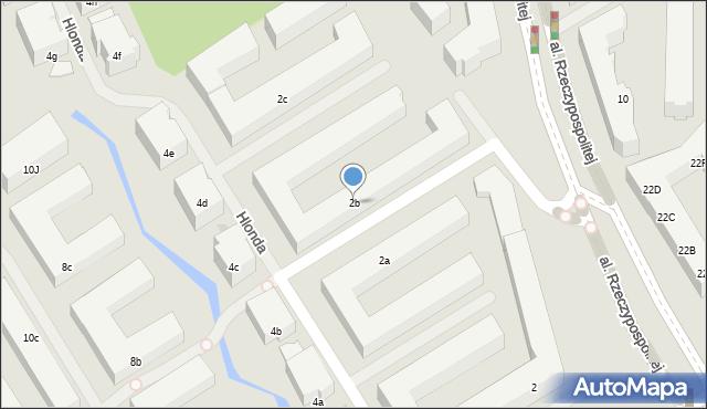 Warszawa, Hlonda Augusta, ks. kard. Prymasa, 2b, mapa Warszawy
