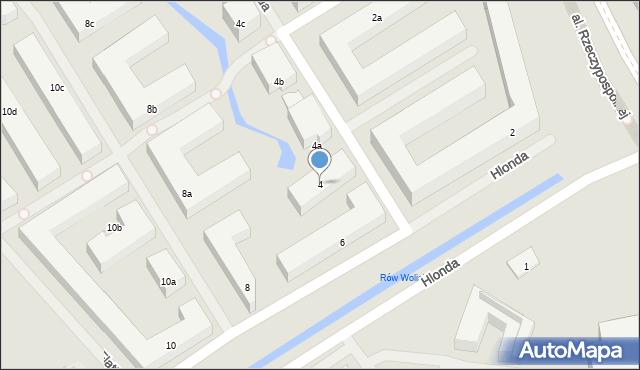 Warszawa, Hlonda Augusta, ks. kard. Prymasa, 4, mapa Warszawy