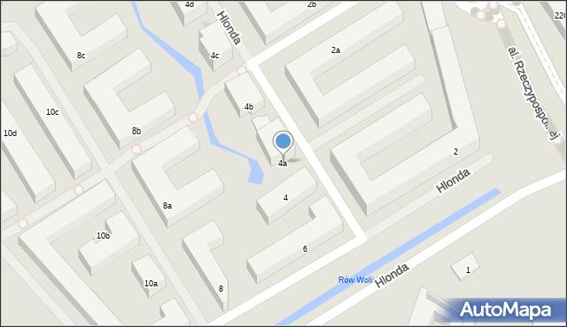 Warszawa, Hlonda Augusta, ks. kard. Prymasa, 4a, mapa Warszawy
