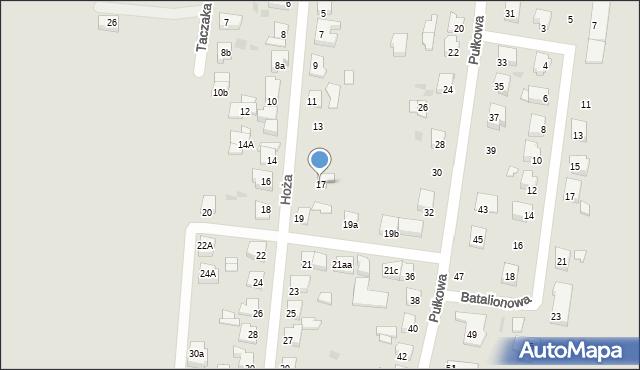 Gniezno, Hoża, 17, mapa Gniezna