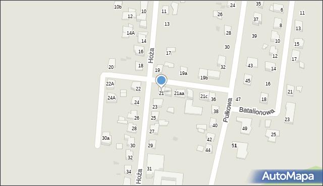 Gniezno, Hoża, 21, mapa Gniezna