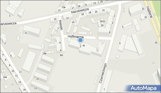 Grudziądz, Hoffmanna Alfonsa, 1, mapa Grudziądza