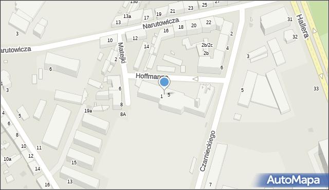 Grudziądz, Hoffmanna Alfonsa, 3, mapa Grudziądza