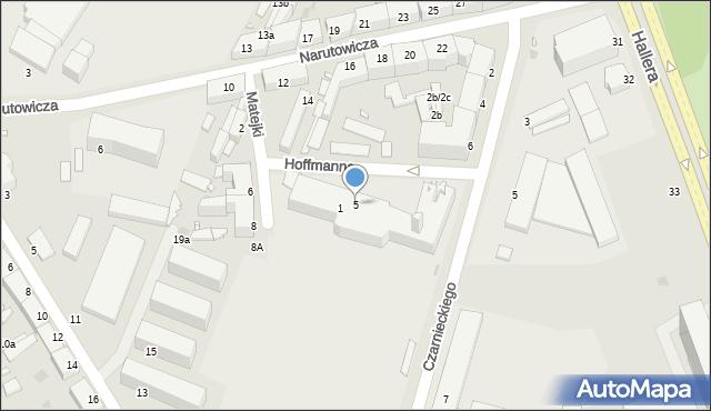 Grudziądz, Hoffmanna Alfonsa, 5, mapa Grudziądza