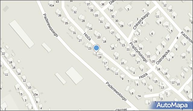 Przemyśl, Hoża, 21, mapa Przemyśla