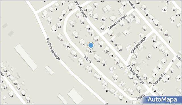 Przemyśl, Hoża, 24, mapa Przemyśla