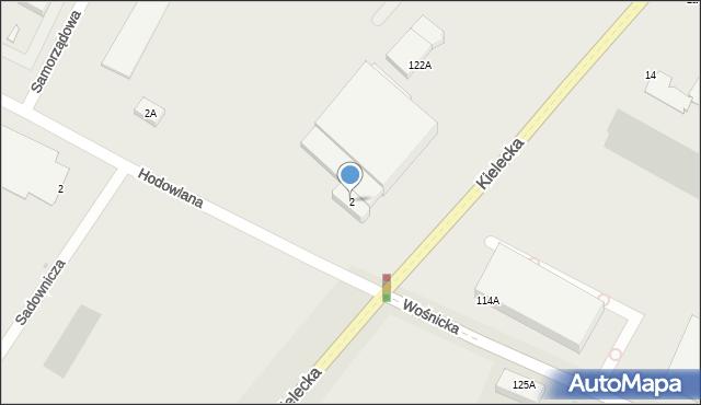 Radom, Hodowlana, 2, mapa Radomia