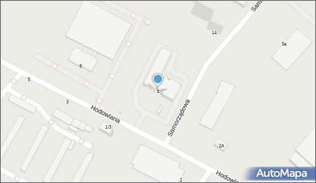 Radom, Hodowlana, 4, mapa Radomia