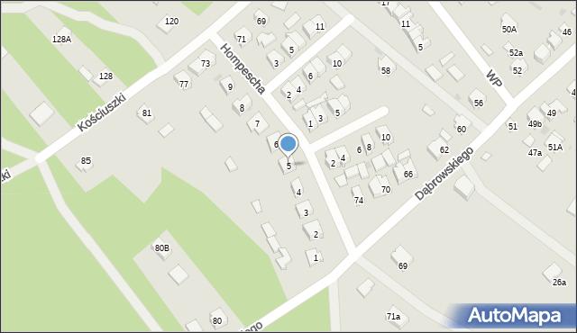 Rudnik nad Sanem, Hompescha Ferdynanda, 5, mapa Rudnik nad Sanem