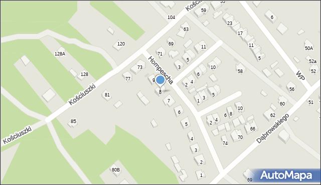 Rudnik nad Sanem, Hompescha Ferdynanda, 8, mapa Rudnik nad Sanem