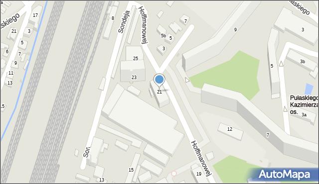 Rzeszów, Hoffmanowej Klementyny, 21, mapa Rzeszów