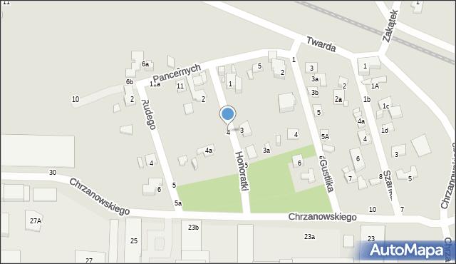 Toruń, Honoratki, 4, mapa Torunia