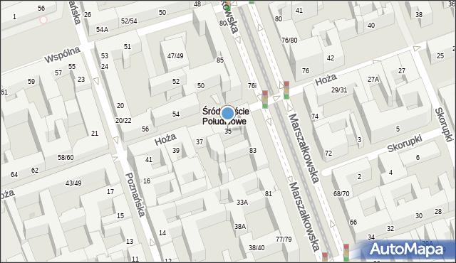 Warszawa, Hoża, 35, mapa Warszawy