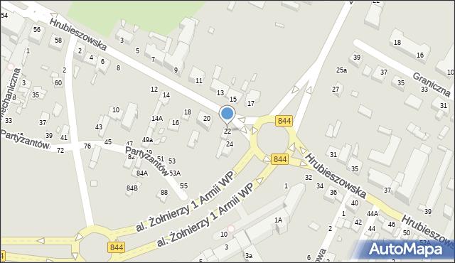 Chełm, Hrubieszowska, 22, mapa Chełma
