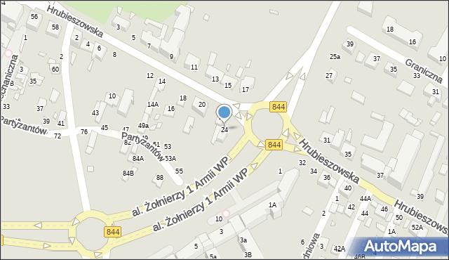 Chełm, Hrubieszowska, 24, mapa Chełma