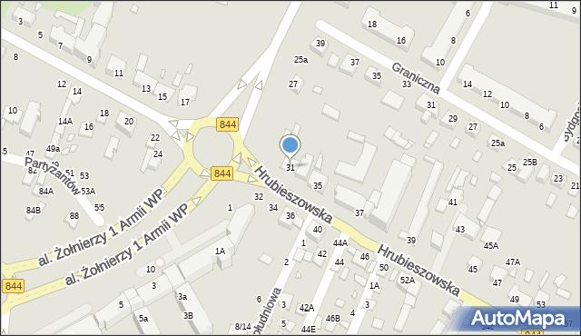 Chełm, Hrubieszowska, 31, mapa Chełma