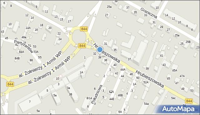 Chełm, Hrubieszowska, 34, mapa Chełma