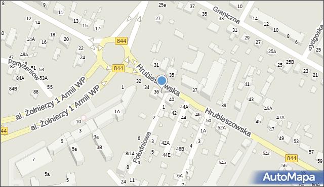 Chełm, Hrubieszowska, 38, mapa Chełma