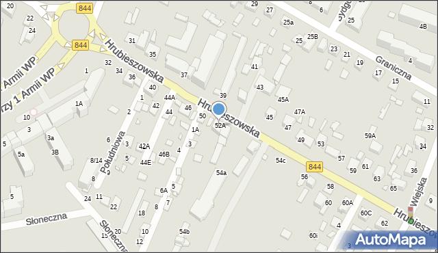 Chełm, Hrubieszowska, 52A, mapa Chełma