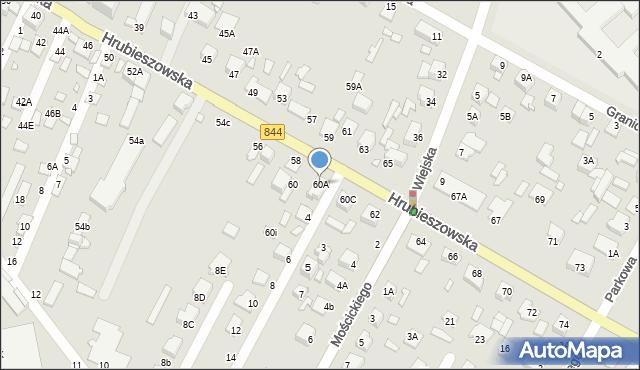 Chełm, Hrubieszowska, 60A, mapa Chełma