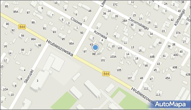Chełm, Hrubieszowska, 99A, mapa Chełma