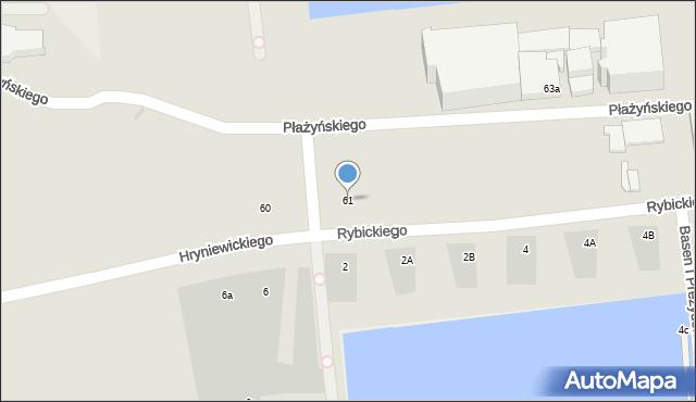 Gdynia, Hryniewickiego A., 59, mapa Gdyni