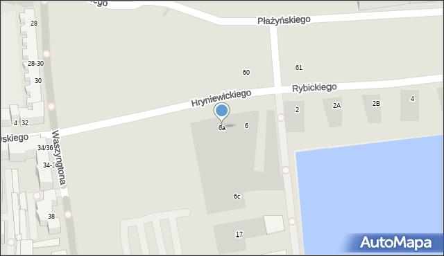 Gdynia, Hryniewickiego A., 6a, mapa Gdyni