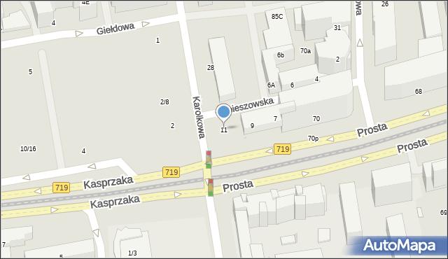 Warszawa, Hrubieszowska, 11, mapa Warszawy