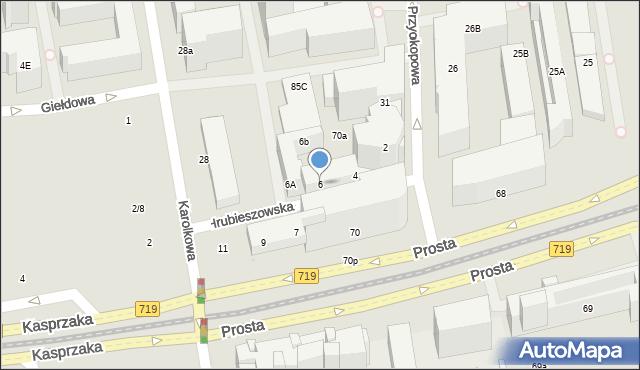 Warszawa, Hrubieszowska, 6, mapa Warszawy