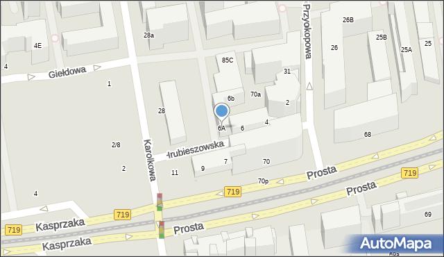 Warszawa, Hrubieszowska, 6A, mapa Warszawy