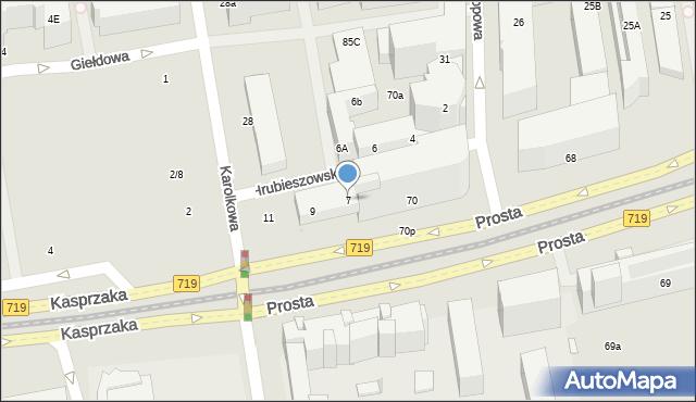 Warszawa, Hrubieszowska, 7, mapa Warszawy